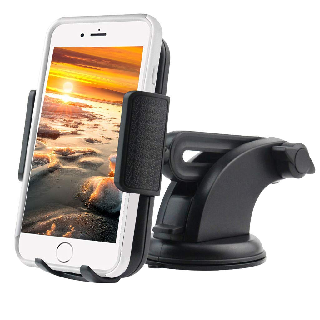 JDgoods Universal Car Phone Mount, 3-in-1 Cell Phone Holder Car Air Vent Holder Dashboard Mount Windshield Mount for iPhone Xs Max R X 8 Plus 7 Plus 6S Samsung Galaxy S9 S8 S7 LG Sony and More (1 Pcs)