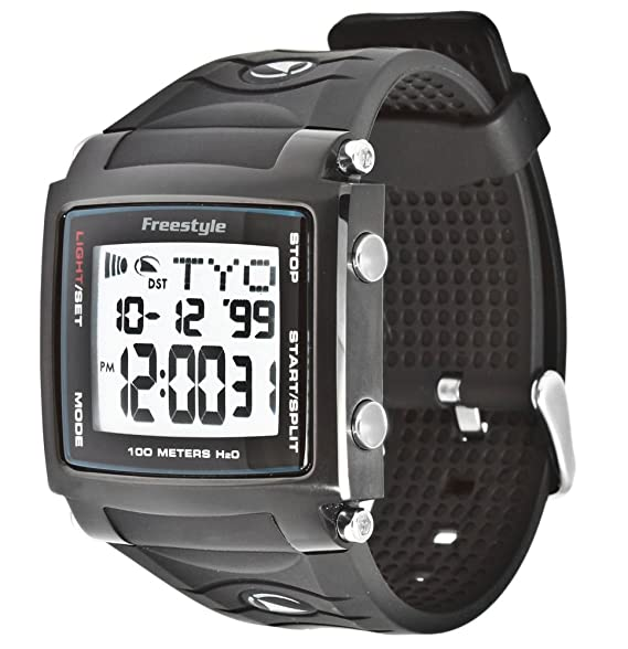 Freestyle Cory Lopex Signature - Reloj digital de caballero de cuarzo con correa de goma negra