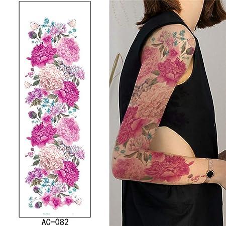 adgkitb 2 Piezas Brazo Completo Tatuaje Temporal Belleza Mujer ...
