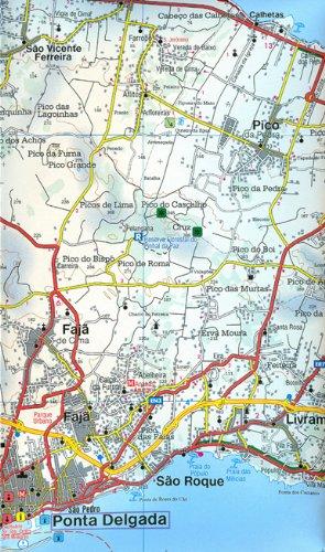 Azores, mapa de carreteras. Escala 1:50.000. Freytag & Berndt ...
