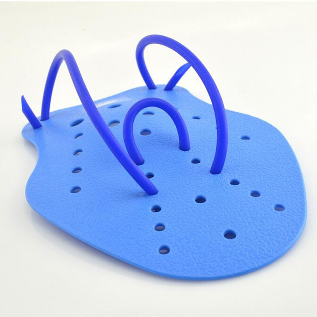 Professional Contoured Swim Training Paddles Finger Paddles Fins Blue Generic