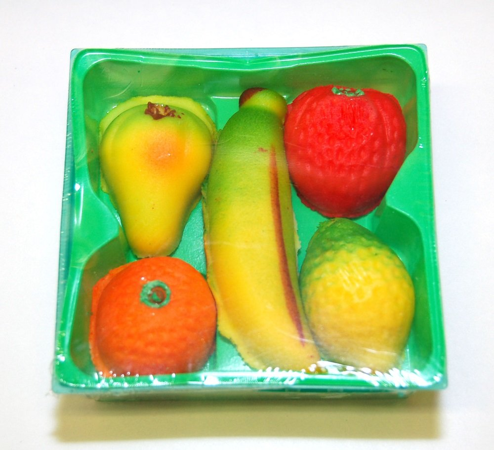 Bergen - Marzipan Fruit, (2)- 5 piece, 4 oz. Baskets
