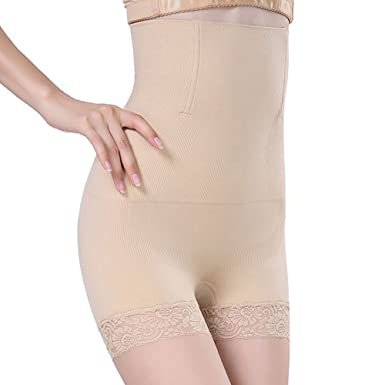 d9e92aed60e57 SURE YOU LIKE Women High Waist Body Shaper Underwear Slimming Shapewear  Tummy Control Knickers Panties Seamless Boyshort  Amazon.co.uk  Clothing