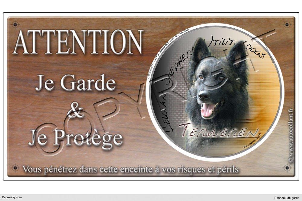 Panneau chien ou plaque Tervueren-06 20 cm COGESCO sarl
