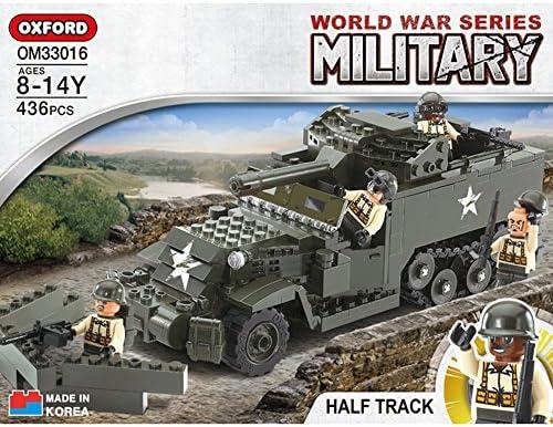 Oxford Blocks HALF TRACK World War Series Building Block Set OM33016