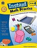 Instant Math Practice Grade 4, Teacher Created Resources Staff, 1420625543