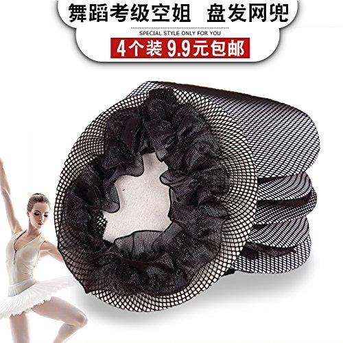 Usongs Liu子供のバレエグレーディングMade単純な文字列バッグProfessionalフライトAttendants Invisibleネット文字列バッグ亜麻色ヘアヘッドギア   B06X154NQP
