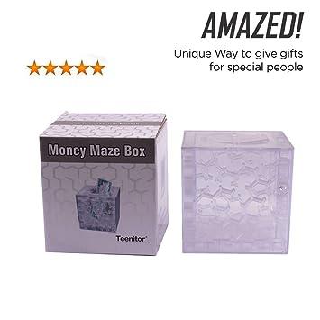 Dinero laberinto teenitor® Puzzle caja de un giro divertido en regalos de cumpleaños y otras