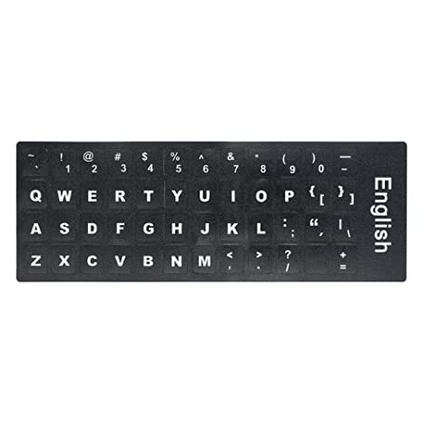 08b7252e4bb Docooler QWERTY Keyboard Sticker with Big Letters: Amazon.in: Electronics