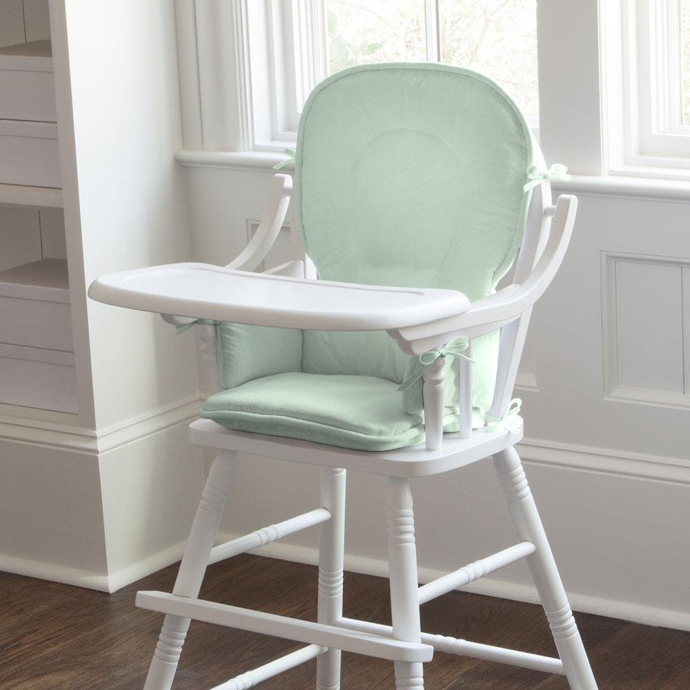 Carousel Designs Solid Icy Mint High Chair Pad