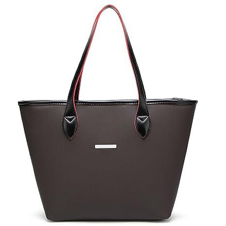 b4667e8cfb KESEE Simple Fashion Women s Square Tote Bag 2018 Ladies Leather Handbag  Shoulder Bag Crossbody Bag  Amazon.in  Bags