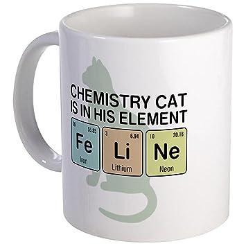 Diseño único de la taza de la taza del gato de la química CafePress - S blanco, cerámica, Blanco, small: Amazon.es: Hogar