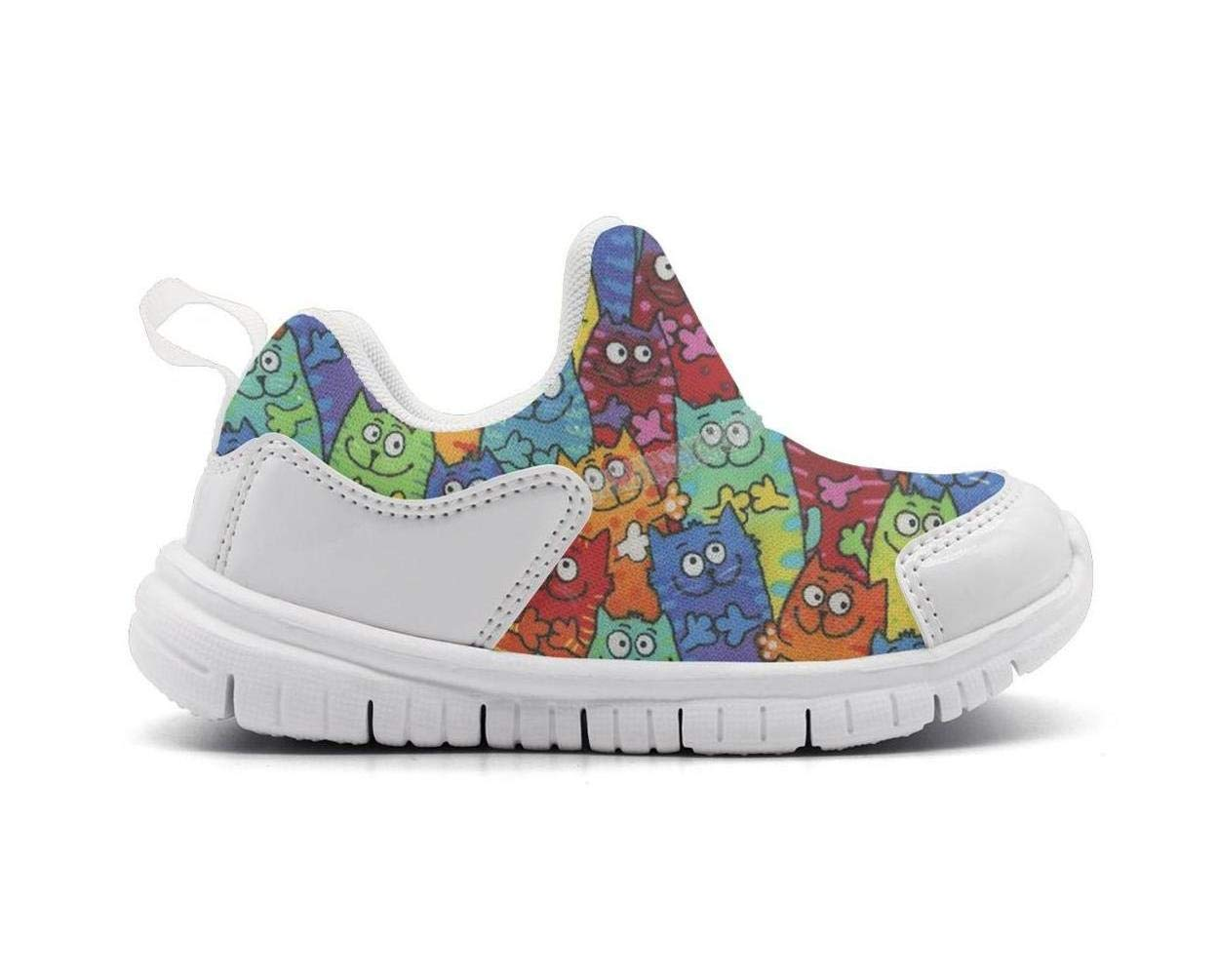 ONEYUAN Children Packed Cats cat-01 Kid Casual Lightweight Sport Shoes Sneakers Walking Athletic Shoes