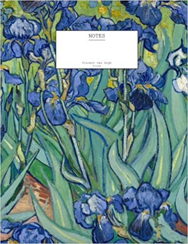 vincent van gogh irises notebook 85 x 11 204 pages decorative notebook journal diary