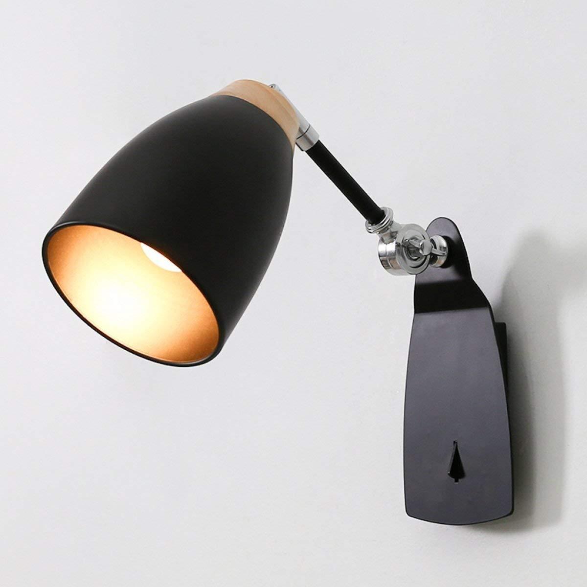 BXJ 現代のシンプルなクリエイティブウォールランプ読書ウォールランププッシュボタンスイッチE27光源 (Color : B) B07R6CX4RD B