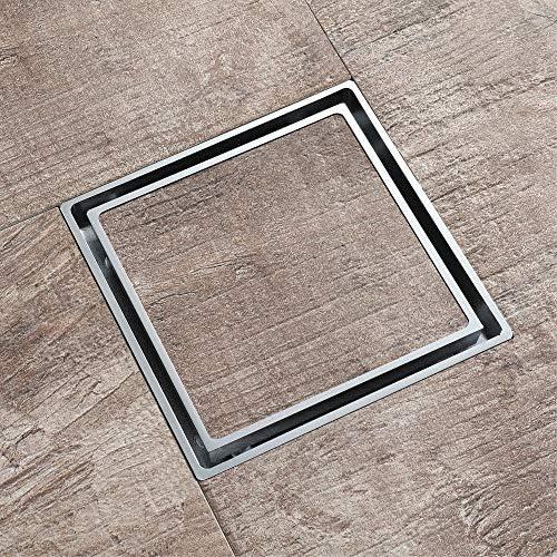 Bodenablauf Antike Messing Platz Versteckte Chrome Kunststoff Deodorant Kernbodenablauf 116X116X33 mm für Badezimmer Dusche Zimmer Toilette Wäscherei Ga ( Color : Metallic , Size : 116x116x33mm )