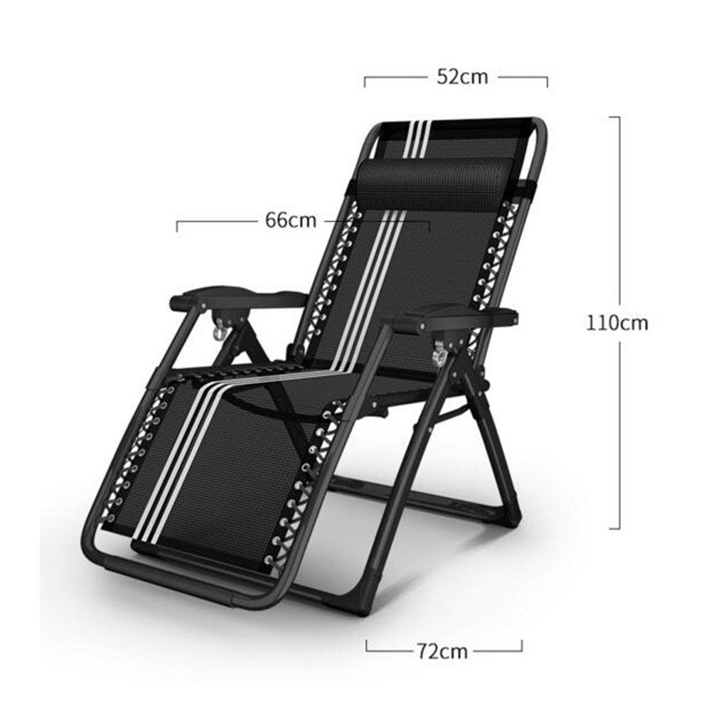 DEO Fauteuils inclinables Chaise pliante Chaise longue de siesta d/ét/é Bureau Chaise de plage portable chaise longue Chaise enceinte Siesta chaise Couleur : 1