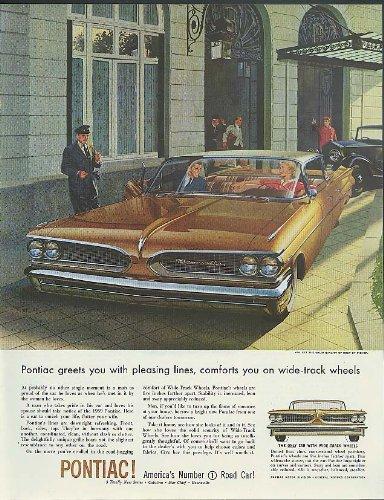 Pontiac Bonneville Hardtop - Greets you with pleasing lines Pontiac Bonneville 4-dr hardtop ad 1959