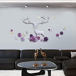 FEENGG Metal Wall Decor, Light Luxury Landscape Hanging Wall Art, Interior and Outdoor Decoration, Wrought Iron Wall Decor, Living Room Home Decoration, 9087 cm