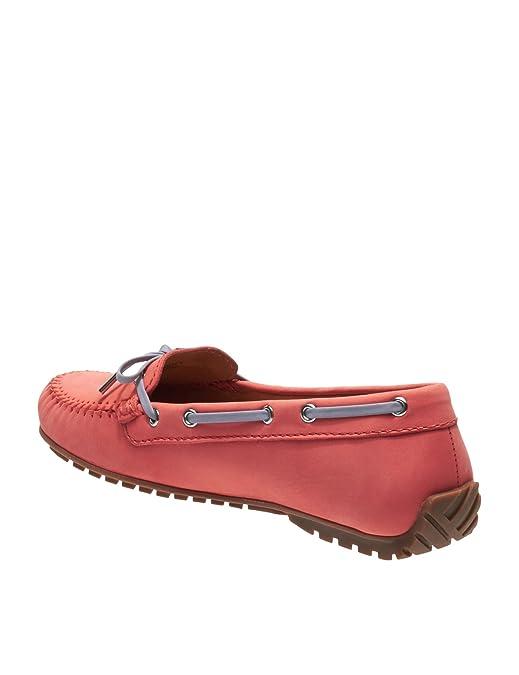 Womens Harper Tie Leather Coral Loafers Orange in Size 37.5 E (W) Sebago fncdGN