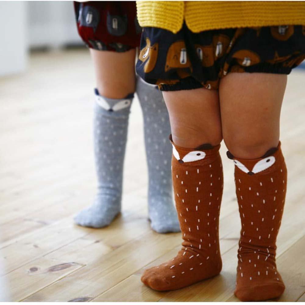 c27cf390945 Amazon.com  Shorven Baby Kids Cotton Socks Knee High Long Socks Anti Skid  With Grips 2 Packs  Clothing