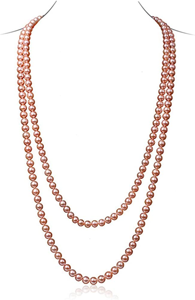 """Genuine 8-9mm Black Freshwater Cultured Pearl Beads Long Necklace 64/"""" Jewelry"""