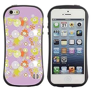 "Hypernova Slim Fit Dual Barniz Protector Caso Case Funda Para Apple iPhone SE / iPhone 5 / iPhone 5S [Decoración Rosa Amarillo Patrón""]"