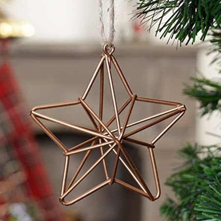 Modern Contemporary Industrial Style Copper Star Christmas Tree ...