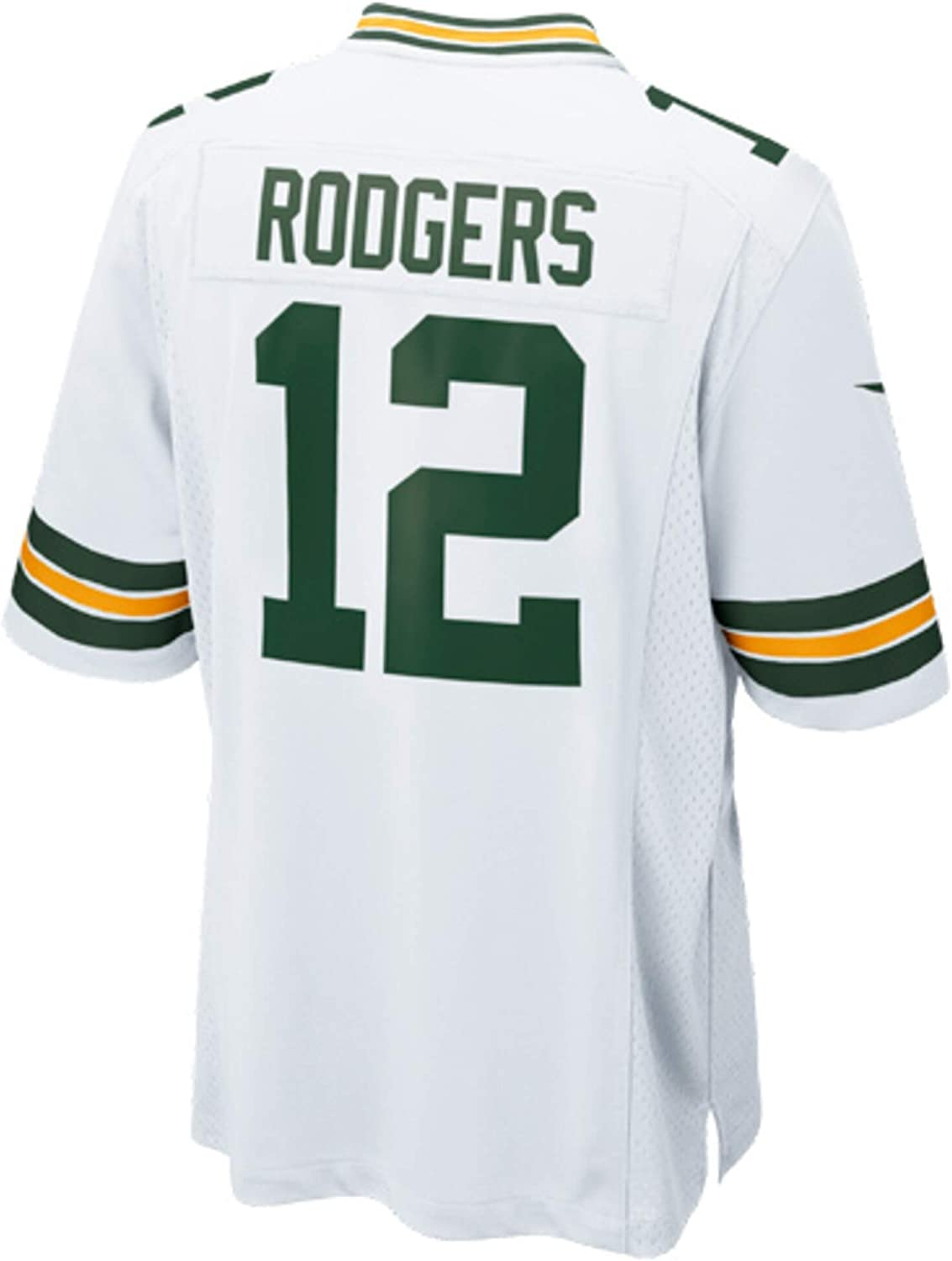 Nike Aaron Rodgers Green Bay Packers NFL Boys Youth 8-20 White Road On-Field Jersey