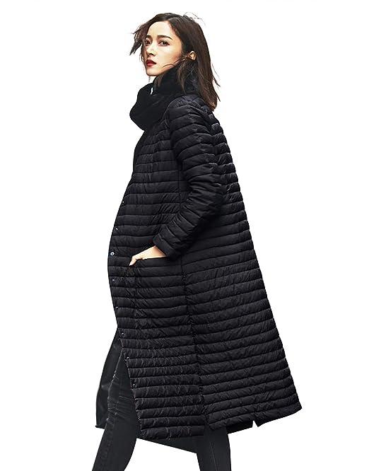 1990002361b9 Wenseny Womens Long Down Jack Fashion Winter Packable Puffer Jacket Coat  Outwear Black Small