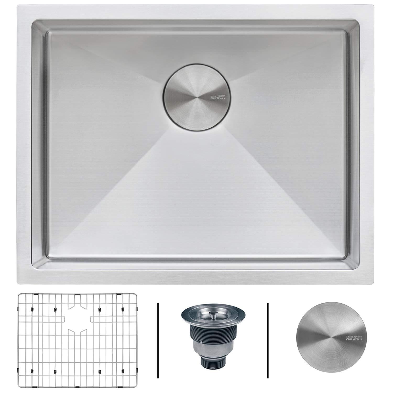 Ruvati 23-inch Undermount 16 Gauge Tight Radius Stainless Steel Kitchen Sink Single Bowl - RVH7123