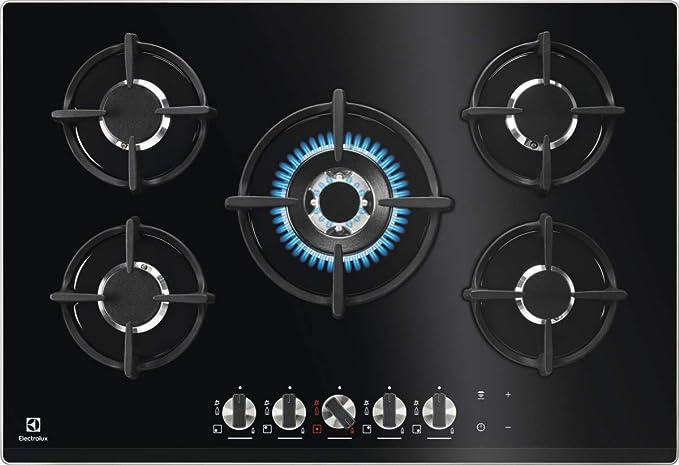 Electrolux Hornillo de gas KGG7538K de acero inoxidable 18/8 ...
