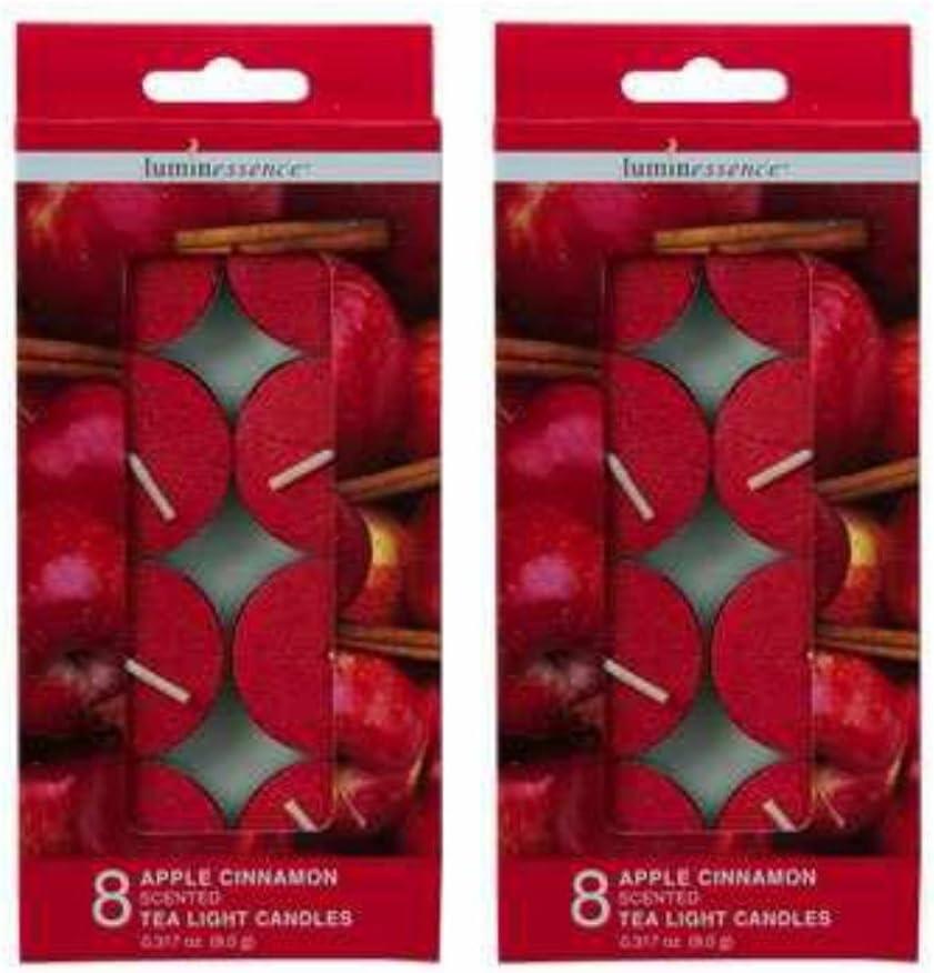 Apple Cinnamon Scented Tea Lights, 16-ct. Pack