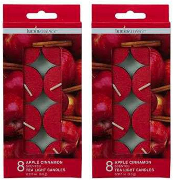 Apple Harvest Tea Lights Set of Six Apple Scent Fall Scent Holiday Scent Strong Scent