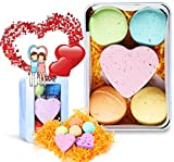 #9: QQCute Bath Bomb Gift Set, All Natural Essential Oil Lush Spa Fizzies for Dry Skin,Best Gift for Women, Teen Girls, Birthdays, Add to Bath Bubbles, Basket, Bath Beads, Bath Pearls