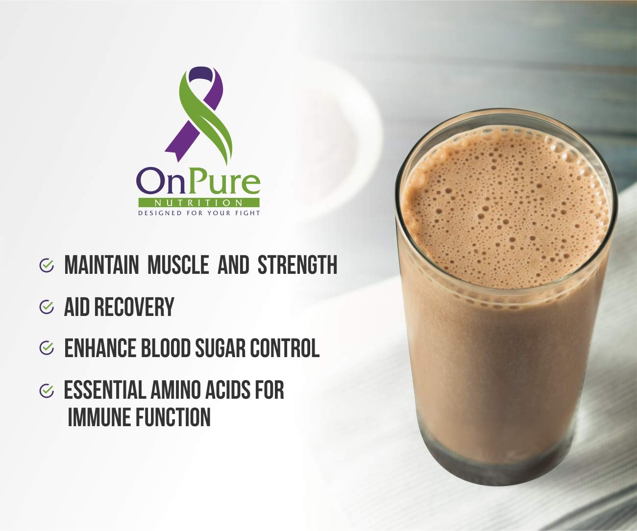OnPure Chocolate Whey Protein Powder, NO Sugar, HIGH Protein 26 Grams of GMO-Free, NO Soy, NO Artificial Flavors. Gluten Free, Keto Friendly, Low CARB. 30 Servings