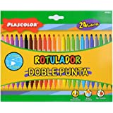 Plascolor PP862 - Pack de 24 rotuladores doble punta