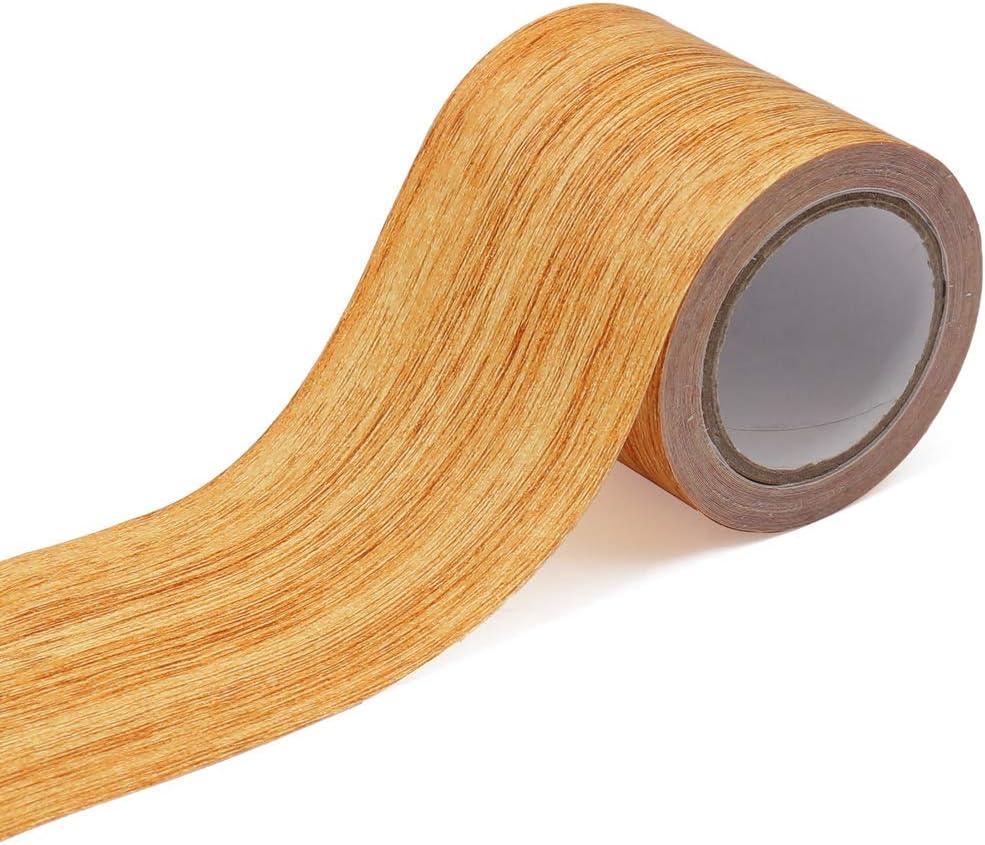 2.2 Inch x 15.1Feet Repair Tape for Wood, Wood Grain Tape Repair Tape Patch Wood Adhesive for Door Chair Table (Natural Oak)