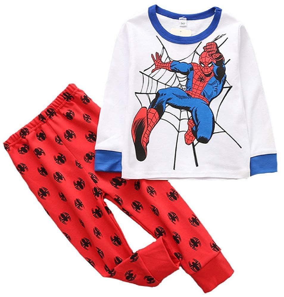 Dinosaurs Park Boys Superhero Pajamas 2-Piece Pant Set Toddler Cotton Sleepwear