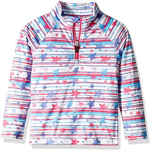 Spyder Girls  Bitsy Limitless Star Stripe Half Zip T-neck Shirt f3eb118b3