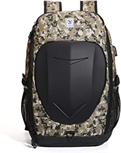 OIWAS Gaming Backpack for Men 15.6 Inch Laptop Large Motorcycle Waterproof Outdoor Daypack Boys Travel Bag with USB Port