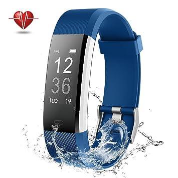 NOVETE Montre Connectée, Bracelet Connecté Sport Cardiofréquencemètre Fitness Tracker dactivité Smartwatch, Bluetooth