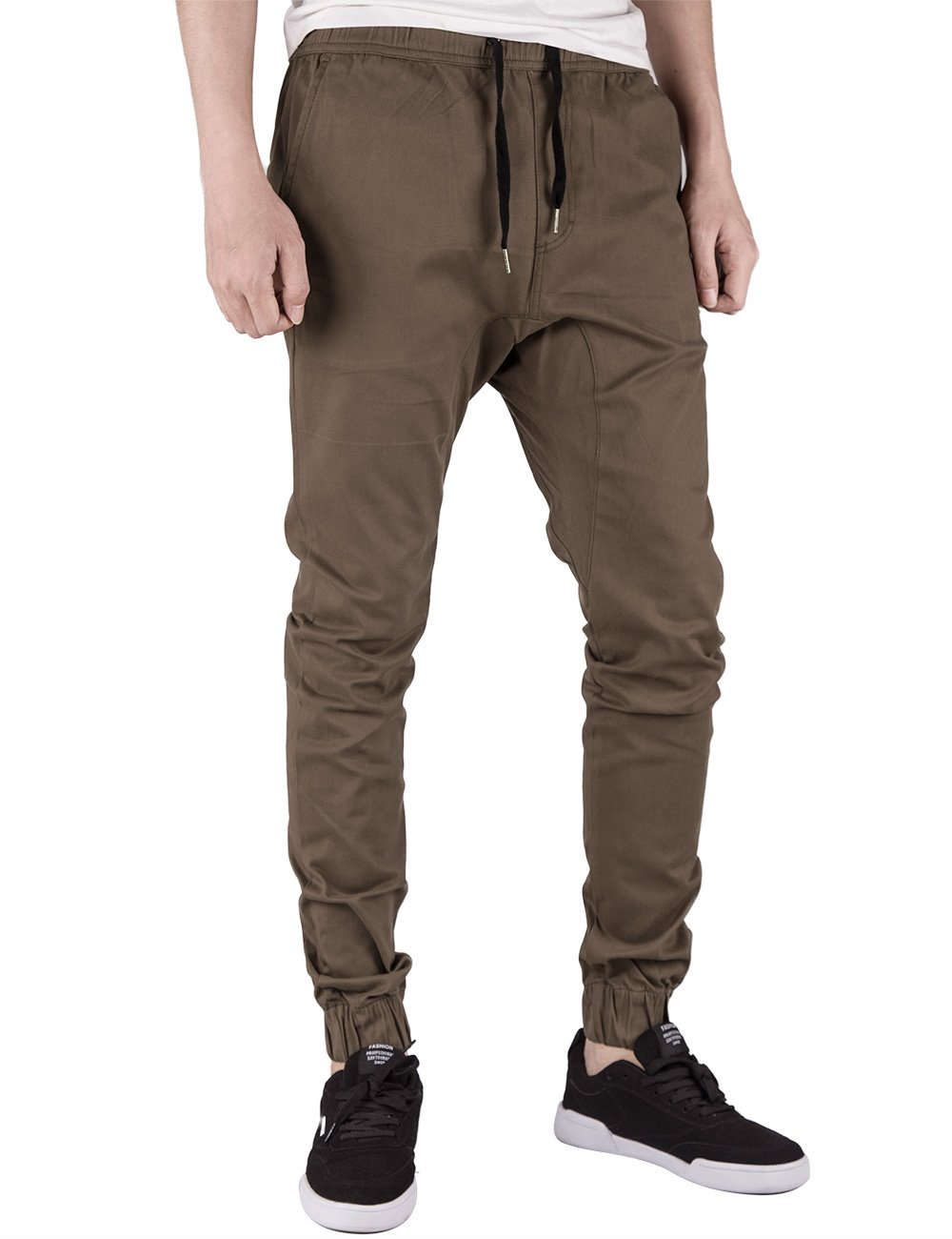 ITALY MORN Men's Chino Jogger Pants XL Coffee by ITALY MORN (Image #2)