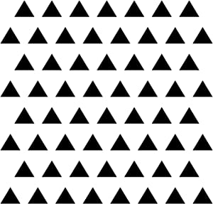 """Triangle Wall Stickers Vinyl Decal (Black 3""""/ 4 Set of 84)"""