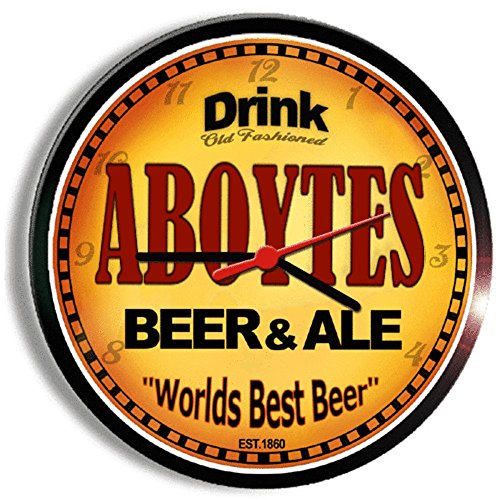 ABOYTES beer and ale cerveza wall clock