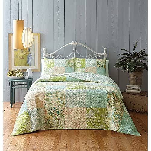 New Jessica Simpson A069314MUOHE Elisabeth Quilt, Standard Sham, Multicolor free shipping