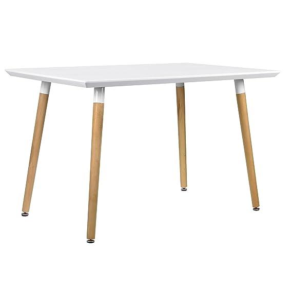 ® Table à manger 120 140 x 60 cm TABLE de CUISINE salle à manger table de table moderne en. casa