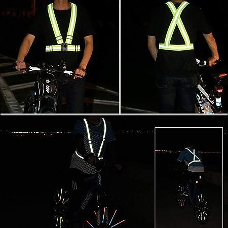 MEOKEY Chaleco de Seguridad Cintur/ón de Jogging Correr de Correa Reflectante Banda arn/és