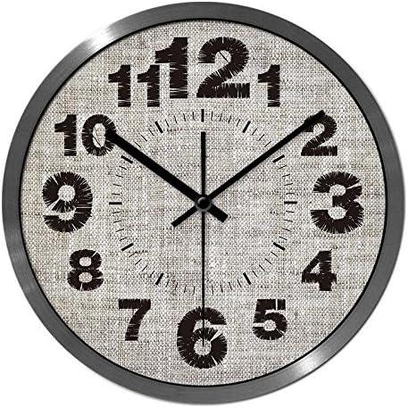 CC Timeon Modern King Size Quartz Wall Clock Non Ticking Quiet Sweep Decorative Clocks