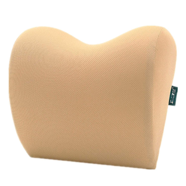 Aikelili ヘッドレストネックピロー 通気性 自動休息クッション バランスのとれた柔らかさ 低反発素材 トラベルピロー ベージュ P01 B07Q38TPCJ ベージュ